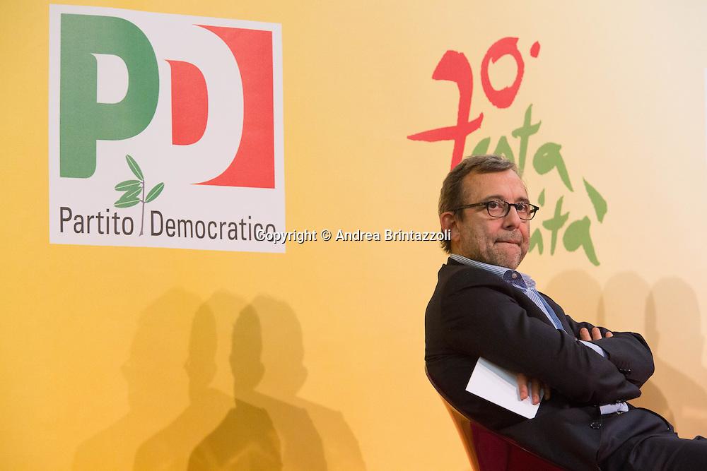 Bologna 23 Aprile 2015 Festa Nazionale dell&rsquo;Unit&agrave; - 70 anni di Feste. La riforma elettorale <br /> Nella Foto: On. Roberto Giachetti Vice Presidente della Camera dei Deputati