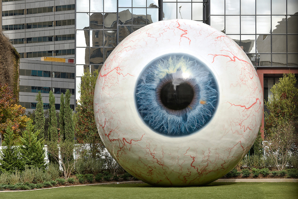 Artist Tony Tasset's Eye sculpture,Dallas, Texas,USA