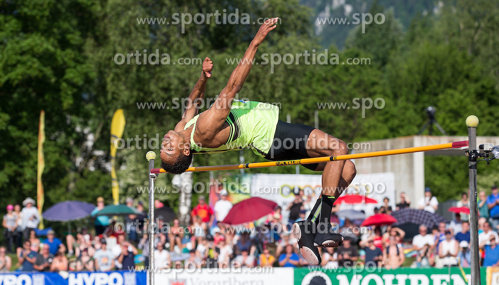 28.05.2016, Moeslestadion, Goetzis, AUT, 42. Hypo Meeting Goetzis 2016, Zehnkampf der Herren, Hochsprung, im Bild Jeremy Taiwo (USA) // during the high jump event of the Decathlon competition at the 42th Hypo Meeting at the Moeslestadion in Goetzis, Austria on 2016/05/28. EXPA Pictures © 2016, PhotoCredit: EXPA/ Peter Rinderer