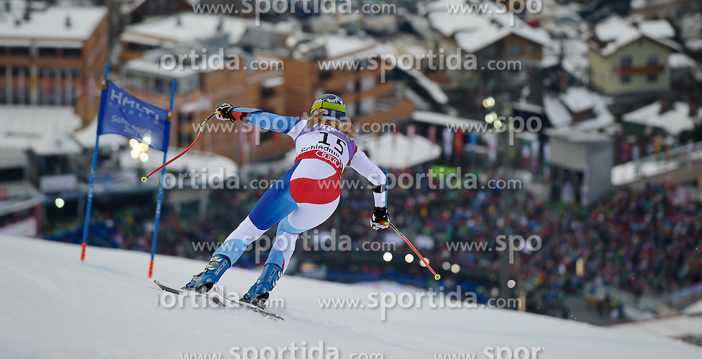05.02.2013, Planai, Schladming, AUT, FIS Weltmeisterschaften Ski Alpin, Super G, Damen, im Bild Fraenzi Aufdenblatten (SUI) // Fraenzi Aufdenblatten of Switzerland in action during ladies SuperG at the FIS Ski World Championships 2013 at the Planai Course, Schladming, Austria on 2013/02/05. EXPA Pictures © 2013, PhotoCredit: EXPA/ Sandro Zangrando