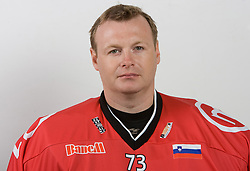 Goalkeeper Boris Tortunov at HK Acroni Jesenice Team roaster for 2009-2010 season,  on September 03, 2009, in Arena Podmezaklja, Jesenice, Slovenia.  (Photo by Vid Ponikvar / Sportida)
