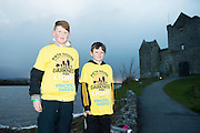 Pieta House, Centre for the Prevention of Self-harm or Suicide will be holding its eighth Darkness into Light charity 5k walk/run this year and for the second time KINVARA is hosting the event.&nbsp; We will be hosting Darkness Into Light on 7th May 2016 while it is still dark at 4.15  and finishing as dawn is breaking at 5.30am approximately.<br /> <br /> The 5 kilometre circuit will commence at the Astro pitch at Kinvara National School. Runners and walkers veer left coming out of Kinvara National School and proceed down the main street. From there the runners and walkers will continue along the N67 in the direction of Dunguaire Castle. Runners and walkers will then turn onto R367(Ardrahan Road) on their right and from there proceed approx. 1 KM and turn left onto Green Road.They will then proceed to rejoin theN67 at the Green Road junction on the northeast of Dunguaire Castle. The participants will proceed back towards Kinvara village along the N67 until returning to the original starting point at the Astro pitch at Kinvara National School.<br /> At the Launch were  Sam Heanen and Ethan Sexton    Photo:Andrew Downes, xposure.