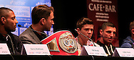 Picture by Richard Gould/Focus Images Ltd +44 7855 403186<br /> 22/06/2013<br /> Luke Campbell (3rd left) speaks about his fight pictured during a press conference at Hull City Hall.