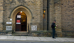 © Licensed to London News Pictures. 15/11/2012..Location, Country. ..Voting in East Cleveland for the new Police and Crime commissioner started extremely slowly in Saltburn today with very few voters making their ways to the polling stations at the start of the day..The newly elected commissioner will be accountable for how crime is tackled in their police force areas. ..Photo credit : Ian Forsyth/LNP