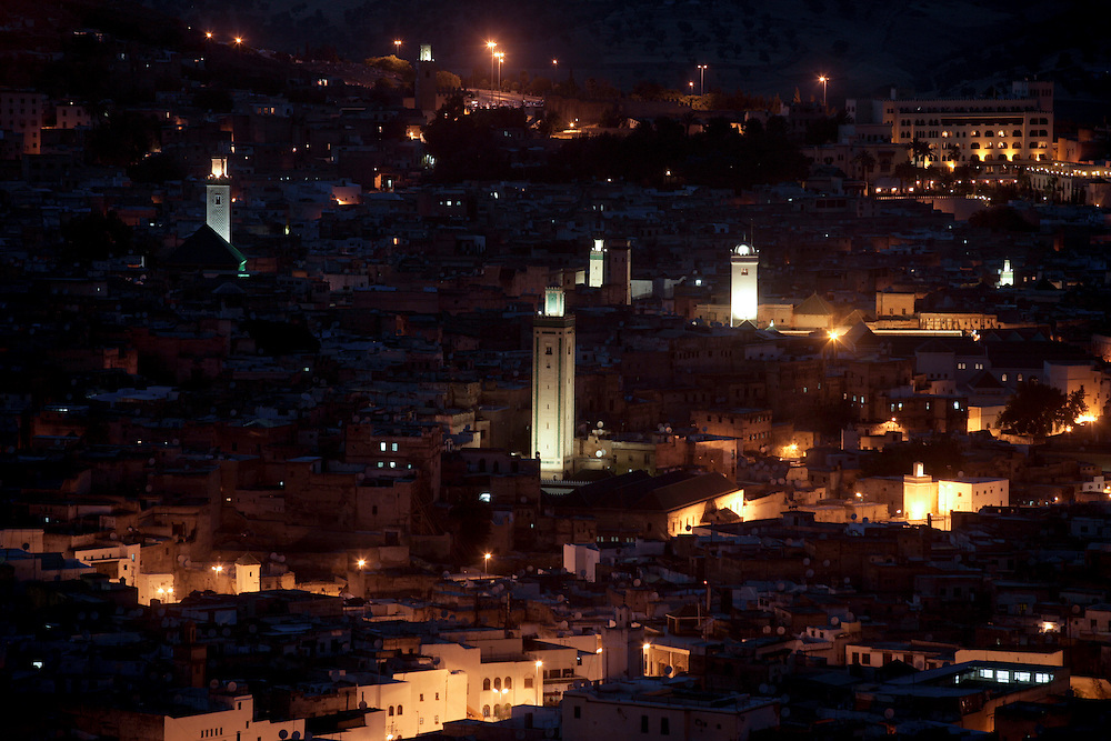 Fez Medina seen from Borj Sud. Fez is the medieval capital of Morocco, and a great city of high Islamic civilization. It has the best-preserved old city in the Arab world, the sprawling, labyrinthine medina of Fes el-Bali, which is a UNESCO World Heritage Site.