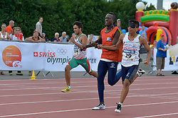 05/08/2017; Frasco, Pedro, T13, POR, Naranjo Rios, Samuel, T11, COL at 2017 World Para Athletics Junior Championships, Nottwil, Switzerland