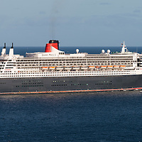 Cunard's Queen Mary2 leaving Halifax for Southampton.