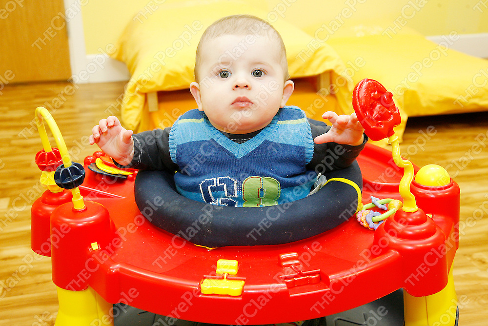 Dillon was busy in the Baby Room at the Woodhaven Montessori and Childcare Academy in Ennis.<br /><br /><br /><br />Photograph by Yvonne Vaughan.