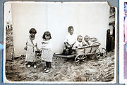 lttle children posing during a day at the beach Holland ca 1950s