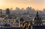 France. Paris. elevated view.  The Sorbonne and the chapel. paris cityscape, View  from Clowis tower (remaining of the old church)
