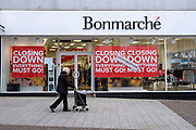 The Folkestone Bonmarche store in the final few days of the 'Everything Must Go' sale before closing down in Folkestone, Kent. United Kingdom.  (photo by Andrew Aitchison / In pictures via Getty Images)