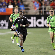 NZ 7's Tomasi Cama's second Second Half try against Australia.  Photo by Barry Markowitz, 2/10/12