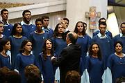 Belo Horizonte_MG, Brasil...Encontro de corais na Igreja da Assembleia...Meeting of choral in the Assembleia church...Foto: LEO DRUMOND / NITRO