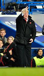 14.11.2010, Stamford Bridge, London, ENG, PL, FC Chelsea vs FC Sunderland, im Bild Sunderland manager Steve Bruce..Chelsea v Sunderland.English Premiership,.Stamford Bridge, London. UK. .14/11/10,. EXPA Pictures © 2010, PhotoCredit: EXPA/ IPS/ Sean Ryan +++++ ATTENTION - OUT OF ENGLAND/UK +++++