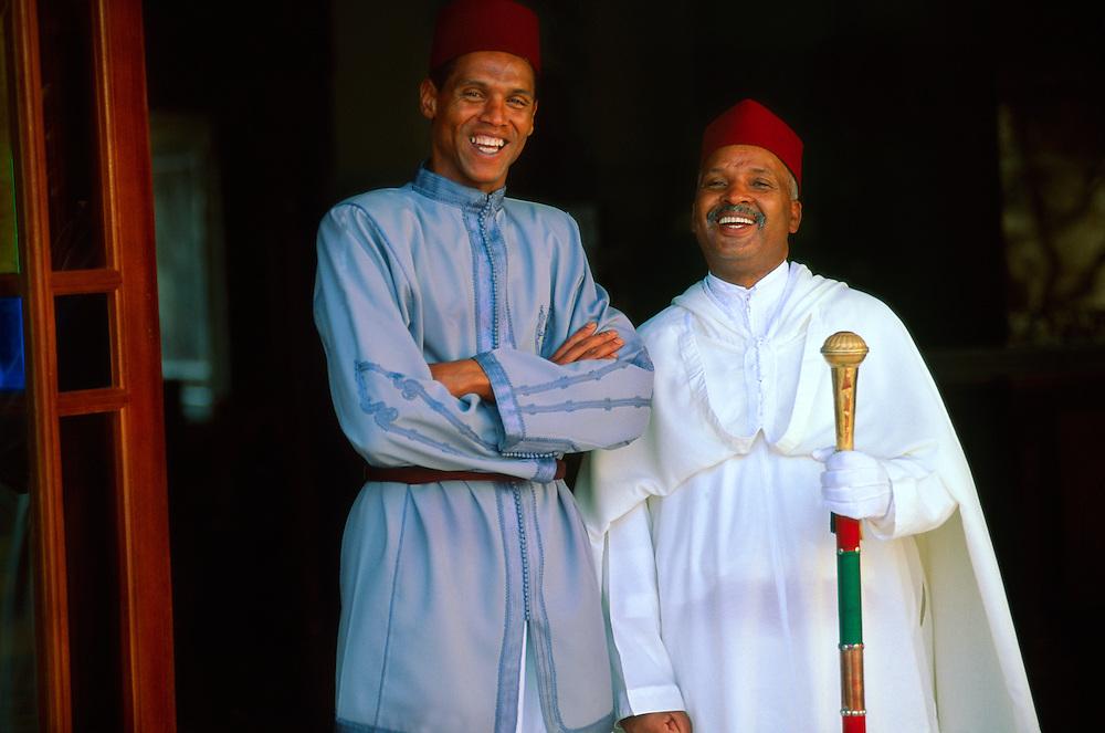 Berber doorman and porter,  Palais Jamai (luxury hotel), Fes, Morocco