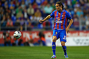 VALENCIA, SPAIN - MAY 10: Robert Acquafresca of Levante UD in action during the Liga BBVA between Levante UD and Real Zaragoza at the Ciutat de Valencia stadium on May 10, 2013 in Valencia, Spain. (Photo by Aitor Alcalde Colomer).