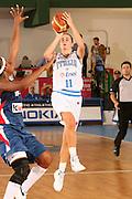 DESCRIZIONE : Chieti Italy Italia Eurobasket Women 2007 Italia Italy Francia France <br /> GIOCATORE : Raffaella Masciadri <br /> SQUADRA : Nazionale Italia Donne Femminile EVENTO : Eurobasket Women 2007 Campionati Europei Donne 2007<br /> GARA : Italia Italy Francia France <br /> DATA : 26/09/2007 <br /> CATEGORIA : Tiro <br /> SPORT : Pallacanestro <br /> AUTORE : Agenzia Ciamillo-Castoria/E.Castoria Galleria : Eurobasket Women 2007 <br /> Fotonotizia : Chieti Italy Italia Eurobasket Women 2007 Italia Italy Francia France <br /> Predefinita :
