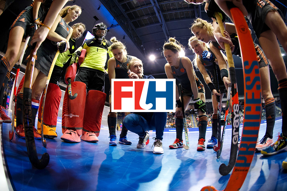 BERLIN - Indoor Hockey World Cup<br /> Women: Netherlands - United States<br /> foto: Marieke Dijkstra.<br /> WORLDSPORTPICS COPYRIGHT FRANK UIJLENBROEK