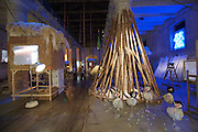 "Arsenale. International exhibition ""Fare Mondi // Making Worlds // Bantin Duniyan // ???? // Weltenmachen // Construire des Mondes // Fazer Mundos..."" curated by Daniel Birnbaum..Pascale Marthine Tayou, ""HUMAN BEING @ work"", 2007-2009"