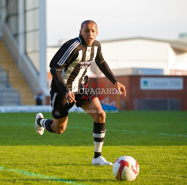 WARRINGTON, ENGLAND - Wednesday, April 29, 2009: Newcastle United's James Tavernier during the FA Premiership Reserves League (Northern Division) match at the Halliwell Jones Stadium. (Photo by David Rawcliffe/Propaganda)