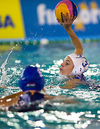 3 Arianna GARIBOTTI ITA  <br /> ITA v HUN Italy (white cap) versus Hungary (blue cap)<br /> FINA Women Water Polo World League qualification round<br /> Avezzano (AQ) Italy ITA Piscina Comunale Avezzano <br /> Centro Italia Nuoto  Unipol<br /> April 18th, 2017 <br /> Photo &copy;D.Montano/Deepbluemedia/Insidefoto