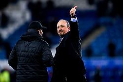 Newcastle United manager Rafa Benitez celebrates victory over Leicester City - Mandatory by-line: Robbie Stephenson/JMP - 12/04/2019 - FOOTBALL - King Power Stadium - Leicester, England - Leicester City v Newcastle United - Premier League