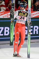 Robert Kranjec of Slovenia competes during Final round of the FIS Ski Jumping World Cup event of the 58th Four Hills ski jumping tournament, on January 6, 2010 in Bischofshofen, Austria. (Photo by Vid Ponikvar / Sportida)