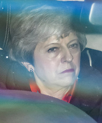 © Licensed to London News Pictures. 07/05/2019. London, UK. British Prime Minister THERESA MAY is seen arriving back Downing Street after spending the Bank Holiday weekend at constituency. Number 10 is continuing talks for Labour officials in an attempt to reach an agreement that might allow the withdrawal agreement to pass through parliament. Photo credit: Ben Cawthra/LNP