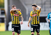 GOTHENBURG, SWEDEN - JULY 19: Alexander Faltsetas and Rasmus Lindgren of BK Hacken after the UEFA Europa League Qualifier match between BK Hacken and FK Liepaja at Bravida Arena on July 19, 2018 in Gothenburg, Sweden. Photo by Nils Petter Nilsson/Ombrello ***BETALBILD***