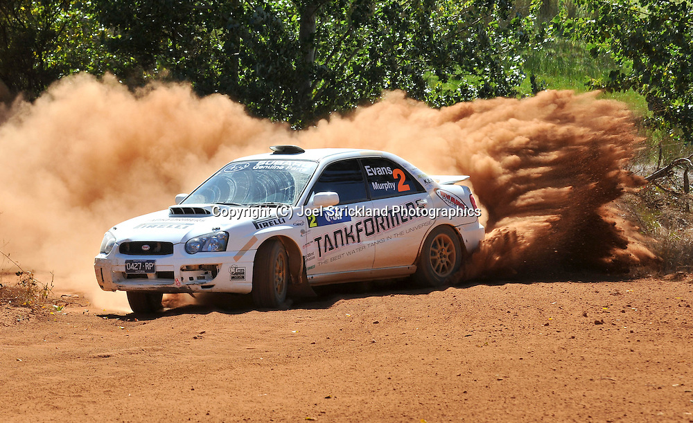 Eli EVANS & Chris MURPHY .Subaru  Impreza WRX.Motorsport-Rally/2009 Forest Rally .Heat 2.5th of April 2009.Nannup, Western Australia.(C) Joel Strickland Photographics