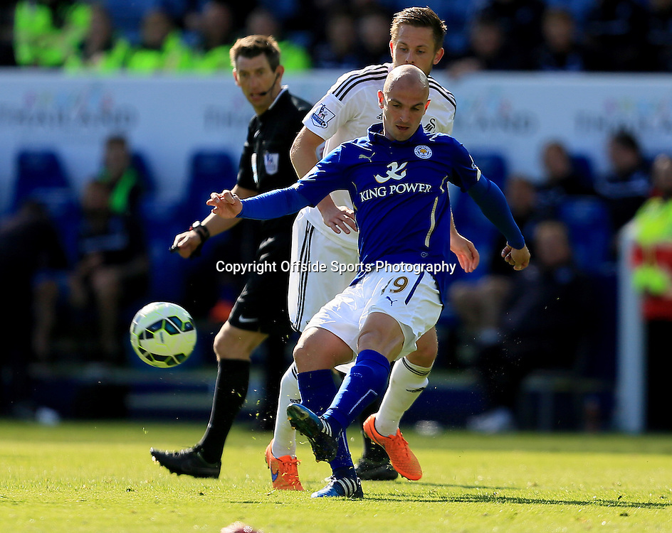 18th April 2015 - Barclays Premier League - Leicester City v Swansea - Esteban Cambiasso of Leicester City - Photo: Paul Roberts / Offside.