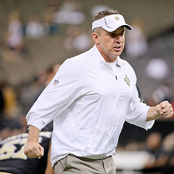 Dec 27, 2015; New Orleans, LA, USA; New Orleans Saints head coach Sean Payton prior to a game against the Jacksonville Jaguars at the Mercedes-Benz Superdome. Mandatory Credit: Derick E. Hingle-USA TODAY Sports