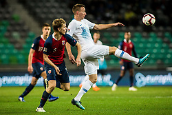Beric Robert of Slovenia and Sigurd Rosted of Norway during football match between National Teams of Slovenia and Norwey in UEFA Nations League 2019, on November 16, 2018 in SRC Stozice, Ljubljana, Slovenia. Photo by Grega Valancic / Sportida