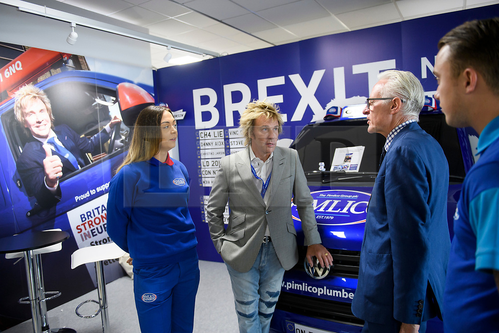 © Licensed to London News Pictures. 18/09/2018. Brighton, UK.  CHARLIE MULLINS (centre), the millionaire founder of Pimlico Plumbers, attends the final day of the Liberal Democrat Autumn Conference in Brighton, East Sussex on September 18, 2018. This years event has been mainly focused around Brexit, the UK's departure from the EU. Photo credit: Ben Cawthra/LNP