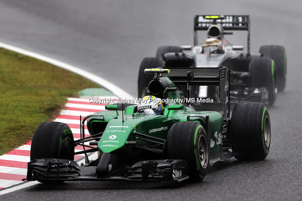 Marcus Ericsson (SWE) Caterham CT05.<br /> Japanese Grand Prix, Sunday 5th October 2014. Suzuka, Japan.