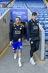 February 23, 2019 - Leicester, England, United Kingdom - James Maddison of Leicester City and Harry Maguire of Leicester City arrive ahead of  the Premier League match between Leicester City and Crystal Palace at the King Power Stadium, Leicester on Saturday 23rd February 2019. (Credit Image: © Mi News/NurPhoto via ZUMA Press)