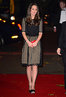 The Duchess of Cambridge attends the SportsBall annual gala dinner at Supernova, Embankment Gardens, London, UK, on the 28th November 2013<br /> <br /> Picture by James Whatling