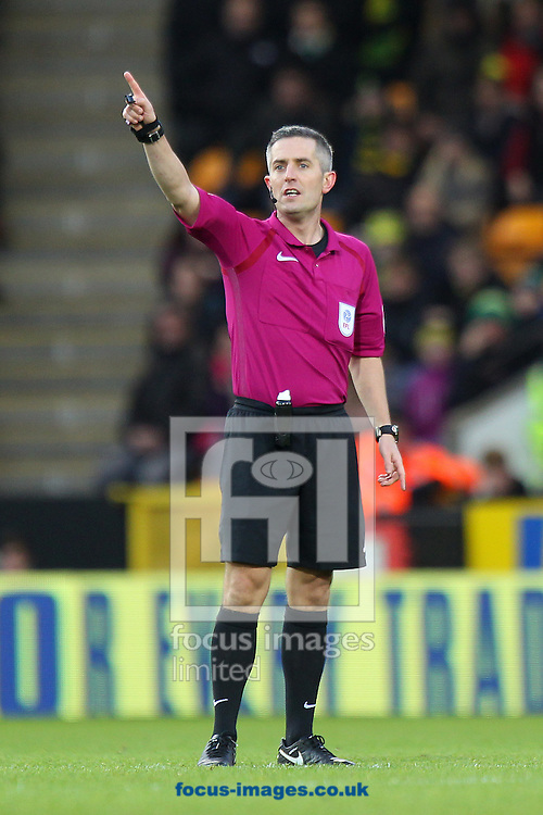 Referee Darren Bond during the Sky Bet Championship match at Carrow Road, Norwich<br /> Picture by Paul Chesterton/Focus Images Ltd +44 7904 640267<br /> 02/01/2017