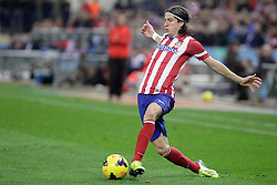 27.10.2013, Estadio Vicente Calderon, Madrid, ESP, Primera Division, Atletico Madrid vs Real Betis, 10. Runde, im Bild Atletico de Madrid's Filipe Luis // Atletico de Madrid's Filipe Luis during the Spanish Primera Division 10th round match between Club Atletico de Madrid and Real Betis at the Estadio Vicente Calderon in Madrid, Spain on 2013/10/28. EXPA Pictures © 2013, PhotoCredit: EXPA/ Alterphotos/ Victor Blanco<br /> <br /> *****ATTENTION - OUT of ESP, SUI*****