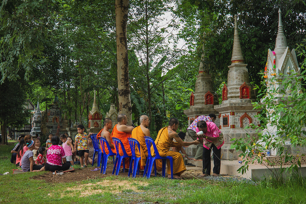 Paying respects to the departed during Songkran