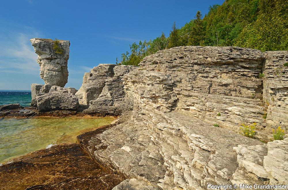 FLowerpot on Flowerpot Island<br /> Fathom Five National Marine Park<br /> Ontario<br /> Canada