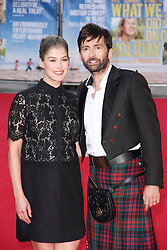 © Licensed to London News Pictures. 22/09/2014, UK. Rosamund Pike & David Tennant, What We Did On Our Holiday - World Premiere, Odeon West End, London UK, 22 September 2014. Photo credit : Brett D. Cove/Piqtured/LNP