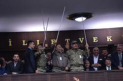 February 6, 2018 - Ankara, Turkey - Military men with blind sticks. Turkey President and leader of AK Party Recep Tayyip Erdogan, speaks at Turkish Parlaimentary in Ankara. (Credit Image: © Depo Photos via ZUMA Wire)