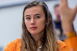 22-03-2017 NED: Teampresentatie EK Atletiek Indoor, Arnhem<br /> Nadine Visser  tijdens de teampresentatie van het atletiek EK indoor op Papendal.