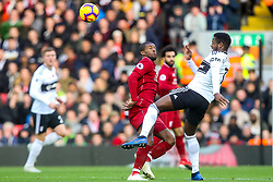 Ryan Sessegnon of Fulham challenges Georginio Wijnaldum of Liverpool - Mandatory by-line: Robbie Stephenson/JMP - 11/11/2018 - FOOTBALL - Anfield - Liverpool, England - Liverpool v Fulham - Premier League