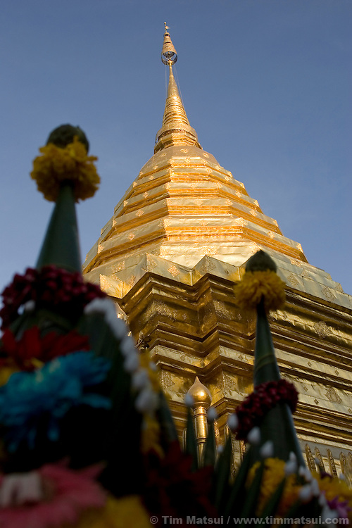 Wat Phra That on top of Doi Sutep, Chiang Mai, Thailand.