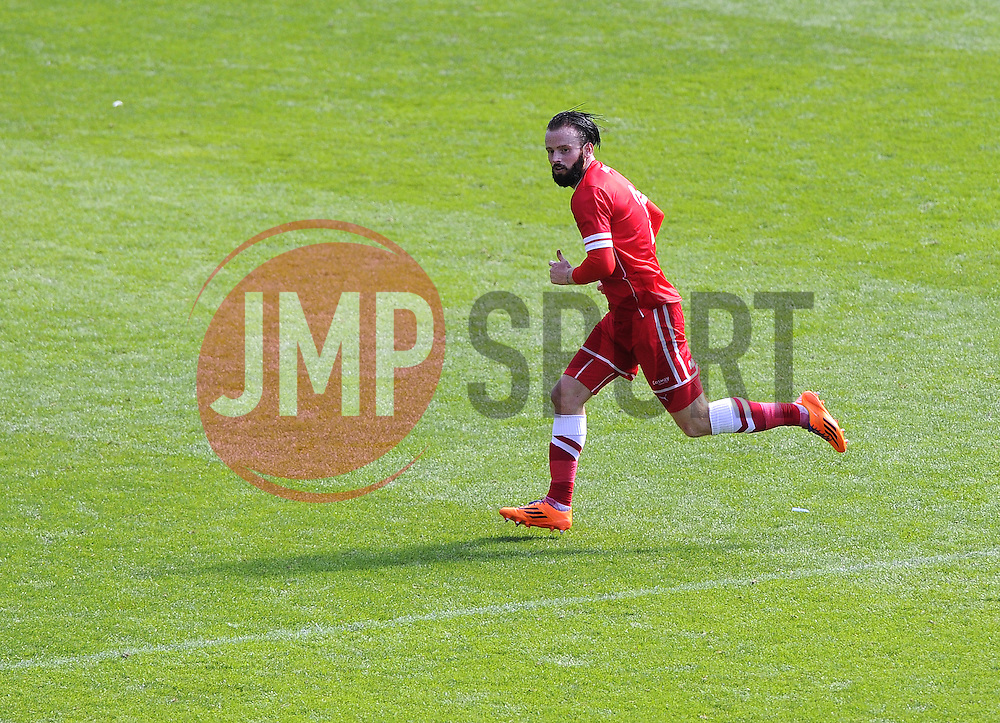 Cardiff City's John Brayford - Photo mandatory by-line: Joe Meredith/JMP - Mobile: 07966 386802 02/08/2014 - SPORT - FOOTBALL - Cardiff - Cardiff City Stadium - Cardiff City v VfL Wolfsburg - Pre-Season Friendly