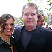 NLD/Amsterdam/20110731 - Premiere circus Hurricane met Hans Klok, Thomas Acda en partner Esmee
