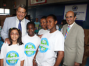 l to r: C. Warren Mosese and Joel Klein at The 2nd Annual Staples/Do Something 101 Volunteer Event held at The Children's AID Society Dunlevy Milbank Boys & Girls Club in Harlem on August 4, 2009 in New York City