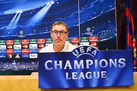 Laurent BLANC  - 20.04.2015 - Conference de Presse du Paris Saint Germain  - Champions League<br />Photo : Dave Winter / Icon Sport